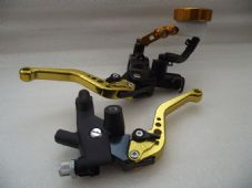 Master cylinder and clutch set CNC levers short gold